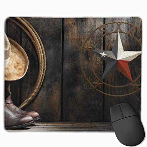 Tension Banner (Mouse Mat Western Texas Star Banner Non-Slip Rubber Mouse Pad for Desktops, Computer, PC and Laptops 9.8 X 11.8 inch (25x30cm))