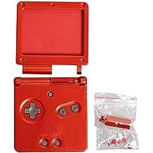 Timorn Reemplazola cubierta llena de la cubierta del caso de Shell para Nintendo GBA SP Gameboy Advance SP (Vino Rojo)