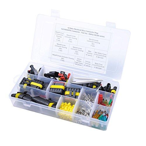WINOMO étanche Fil électrique Connecteurs de terminaux de connecteurs isolé Heat Shrink blocage rapide Fil Harnais Sockets