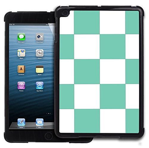 Graphic4You Kariert Muster Design Harte Hülle Case Tasche Schutzhülle für Apple iPad Mini 1 / 2 / 3 (Tiffany Blau) (Mini Case 3 Ipad Tiffany)