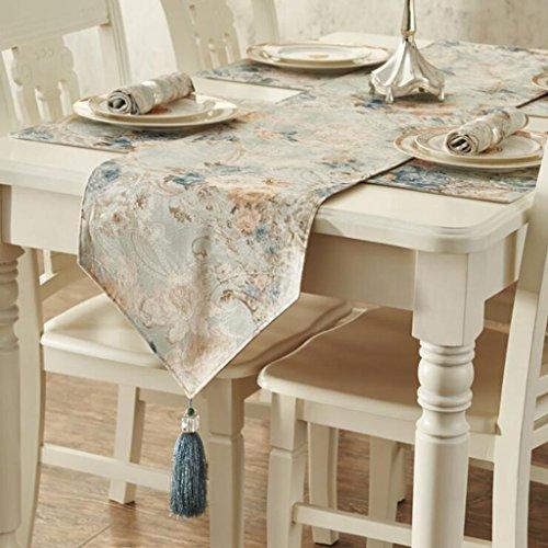 (Miaoge Europäische pastoral Muster Tischdecke Tischfahne Western Mode modern minimalistisch dick Tischfahne 35*183cm)