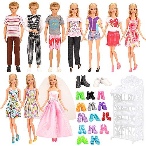 Miunana 23 Accesorios Barbie Dolls Y Ken Dolls Muñecas