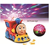 Kritika Toys Musical Engine Train Toy For Kids With 3D Light & Sound, Train Set Toys For Kids (Random Color)
