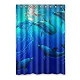 Brauch Dolphin Delphin Fenster Vorhang Window Curtain Licht Beweis Polyester Fabrik für Schlafzimmer oder Wohnzimmer 132 Zentimeters x 183 Zentimeters (ein Stück)