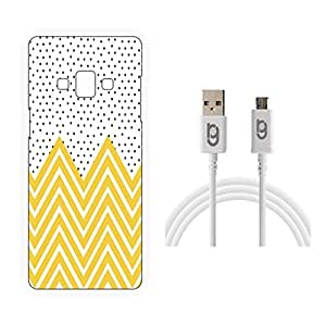 Designer Hard Back Case for Samsung Galaxy A8 with 1.5m Micro USB Cable