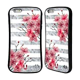 Head Case Designs Azalee in Blüte Marmor und Blumen Hybrid Hülle für Apple iPhone 6 Plus/6s Plus