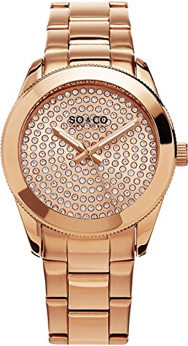 SO&CO New York Madison Damen-Armbanduhr Analog Quarz Edelstahl - 5067.3
