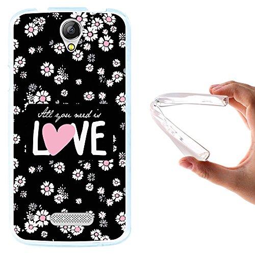 WoowCase Doogee X6 - X6 Pro Hülle, Handyhülle Silikon für [ Doogee X6 - X6 Pro ] Blumen mit dem Satz - All Your Need is Love Handytasche Handy Cover Case Schutzhülle Flexible TPU - Transparent