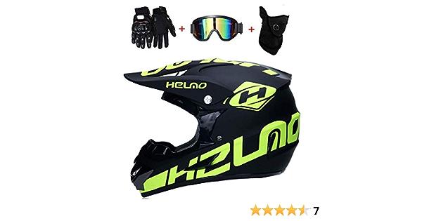 Nomen Doppel Sport Motocross Helm Mx Motorradhelm Atv Roller Downhill Schutzhelm D O T Zertifizierter Fuchs Mit Schutzbrille Handschuhmaske 4 Des Sets Sport Freizeit