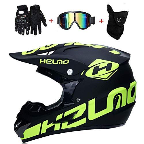 CHEYAL Motorradhelm Cross Helme Schutzhelm Motocross Helm für Motorrad Crossbike Off Road Enduro...