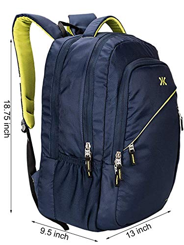 Killer Louis 38L Large Navy Blue Polyester Laptop Backpack with 3 Compartments Image 3