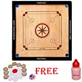 #10: Fabulous Full Size(Large) 32' Inches Round Pocket Carrom Board with Coins, Striker