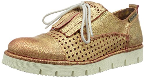 Yellow Cab Crispy W, Chaussures Lacées  femme Or (Gold/Rot)