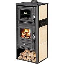 Stufa a legna 10kW acciaio ghisa con forno avana riscaldamento casa AMBASADOR R