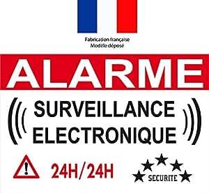 Autocollant de dissuasion alarme surveillance for Autocollant alarme maison