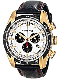 Versace Men's Leather Quartz Watch VDB04-0014
