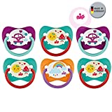 NIP Spar-Set Schnuller Family Gr 2. Silikon 6er Pack Girls 5-18 Mo. BPA frei made in Germany