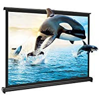 APEMAN 50'' 4:3 Portable HD Projector Screen for Home Cinema Theatre Roll-on Pull-down Collapsible Screen Freestanding Fabric Matte White