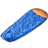 SKANDIKA VEGAS sacco a pelo bambini 170x70 cm blu/arancione nuovo