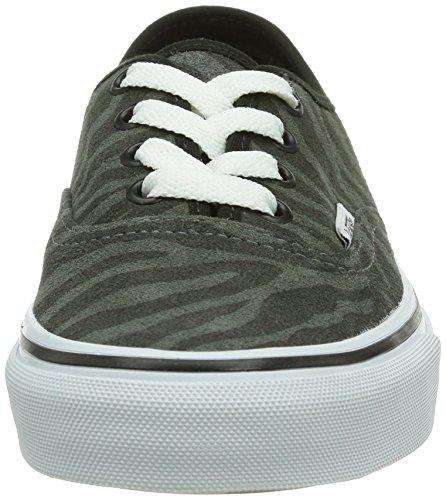 Vans U Authentic, Baskets mode mixte adulte Noir (Zebra/True White)