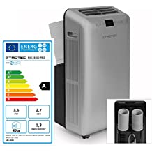 Trotec PAC 3550 PRO, Condizionatore d'aria locale, Capacità di raffreddamento max. : 3.5 kW / 12.000 BTU, Argento