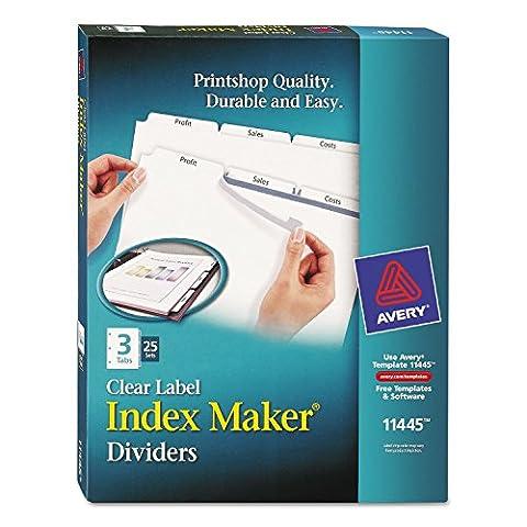Index Maker, Laser, Punched, 3-Tabs, 25 ST/BX, 8-1/2