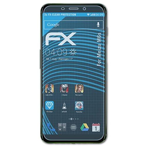 atFolix Schutzfolie kompatibel mit Meizu M6s Folie, ultraklare FX Displayschutzfolie (3X)