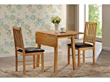 Palma Rubberwood Dining Set with 2 Chairs