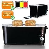 Toaster für 2 leckere, knusprige Toastscheiben, wählbarer Bräunungsgrad, Stoptaste, schwarz