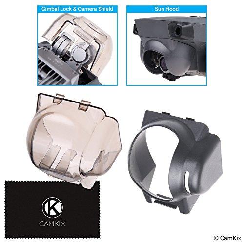 CamKix Sonnenblende + 2in1 Gimbal-Sperre und Kamerablende Kompatibel mit DJI Mavic Pro - Sperrt die Gimbalposition - Schützt die Kamera vor Stößen - Sonnenblende blockiert übermäßiges Sonnenlicht