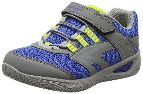 Hi-Tec Thunder Junior Chaussures de Randonnée Hautes Mixte Enfant, Gris (Grey/Cobalt/Limoncello 051) 2 UK
