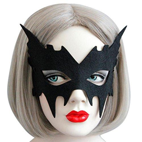 LANDFOX Máscara de ojos elegante mascarada Masquerade Ball Carnival Fancy Party (A)