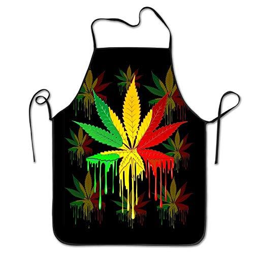 Female Rasta Kostüm - HTETRERW Marijuana Leaf Rasta Colors Dripping