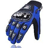 MADBIKE dedo completo guantes de moto motocicleta para verano (azul Size-Xl)