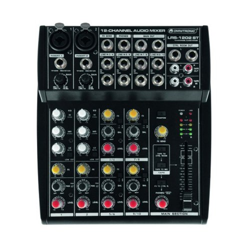 Omnitronic 10040226 LRS-1202ST Live-Recording-Mixer