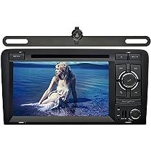 YINUO 7 Pulgadas 2 Din En El Tablero Estéreo Pantalla Táctil Reproductor De DVD/ Radio De Coche GPS Navegación Bluetooth Autoradio Para Audi A3 (2003-2013) Incluida La Cámara De Reserva
