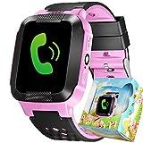 turnmeon kinder gps - tracker smartwatch mit sim fordert sos, alarm, smart watch finder kinder mit taschenlampe fernsteuerung via android oder ios smartphones