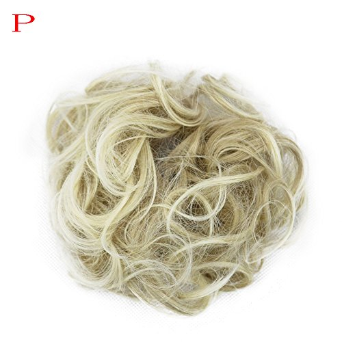 Luckhome Haargummi Haarteil Dutt Synthetik Haare Für Haarknoten Zopf Gummiband Hochsteckfrisuren Haarband Frauen Lockiges Unordentliches Brötchen-Haar-Wirbel-Stück Scrunchie ()