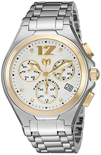 TechnoMarine TM-215013 Orologio da Polso, Display Cronografo, Uomo, Bracciale Acciaio Inossidabile, Argento