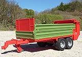Spielwaren STREU-DOPPEL-BORDWAND ANHÄNGER Größe 43cm für RC Traktor