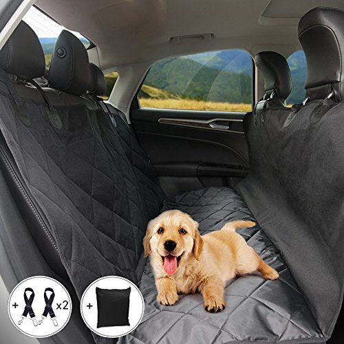 Black Car Rear Back Seat Black Cover Waterproof Pet Dog Protector Gift For Pet