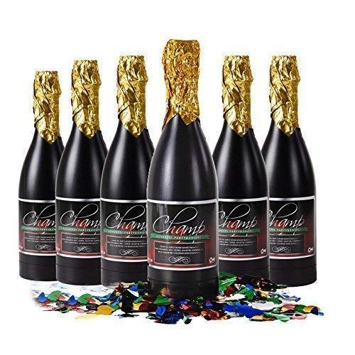 Konfetti Shooter Champagner 6er Set (Champagner-set Von 6)