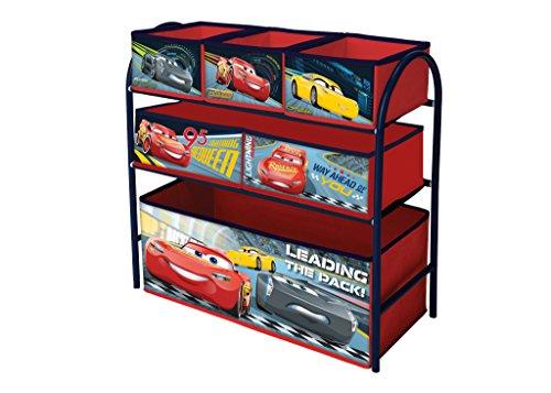 Caja de metal para juguetes con compartimentos Cars
