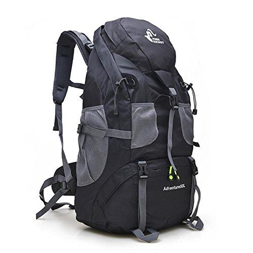 HWJDK 50 litri di trekking zaini viaggiare zaino / escursionismo trekking borsa resistente all'acqua , green Black