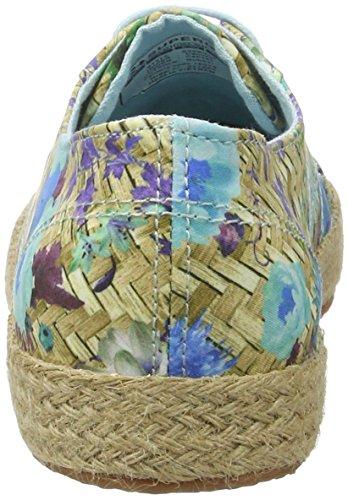 Superga Damen 2750 Fabricfanplropew Sneakers Mehrfarbig (weaving natural azul)