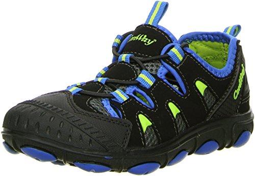 ConWay Kinder Trekkingschuhe Outdoorschuhe schwarz/blau Schwarz