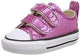 Converse Unisex-Kinder Chuck Taylor All Star Glitter OX Sneaker, Pink, 22 EU
