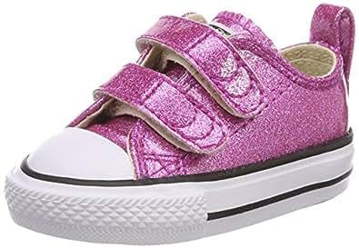 Converse Unisex-Kinder CTAS Hi Bright Violet/Natural/White Hohe Sneaker, Pink (Bright Violet/Natural/White), 22 EU