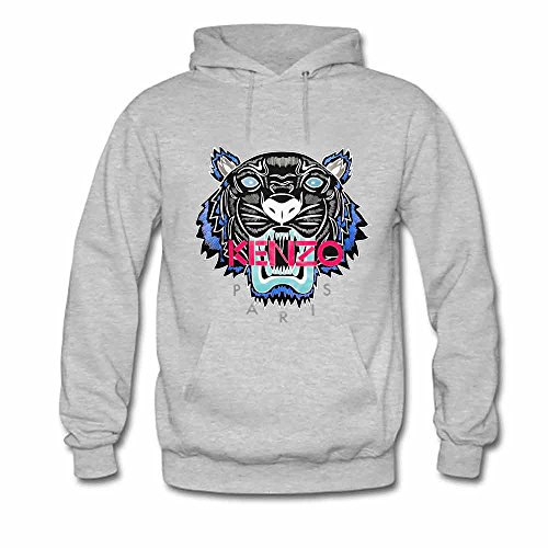 Kenzo Tiger Printed Mens Pullover Hooded Sweatshirt M