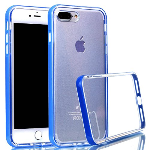 iPhone 7 Plus hülle Case Cozy Hut Ultra Hybrid TPU Bumper for iPhone 7 Plus Hülle Schutzhülle Shock Absorption Plating TPU Case Silicone Cover für iPhone 7 Plus (5,5 Zoll) (2016) - Lotus blau